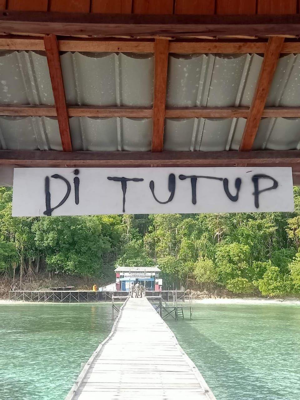 Danau Kakaban Tutup