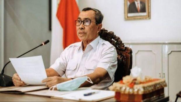 Gubernur Riau, Syamsuar pertama kali memimpin rapat awal tahun