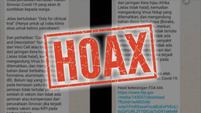 hoax vaksin corona mengandung sel vero