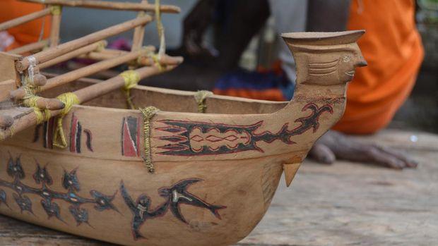 Perahu Sarmi khas Suku Sobey