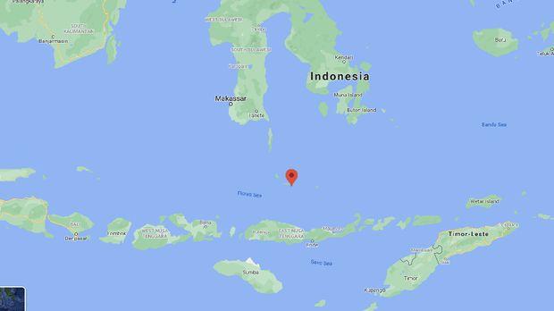 Wilayah perairan Pulau Bonerate di Kabupaten Kepulauan Selayar tempat ditemukannya seaglider misterius (dok. Istimewa).