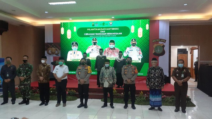 Pelantikan 31 dai kamtibmas untuk Kota Bekasi.