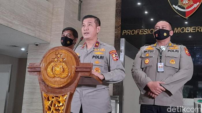Kepala Biro Penerangan Masyarakat Divisi Humas Polri, Brigjen Rusdi Hartono di Bareskrim Polri, Jakarta Selatan, Selasa (5/1/2021).