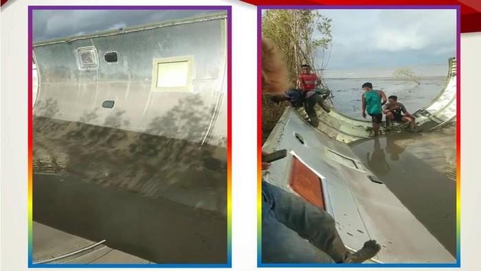 Logam diduga badan pesawat ditemukan di Kotawaringin Barat, Kalteng. (Dok Polda Kalteng)