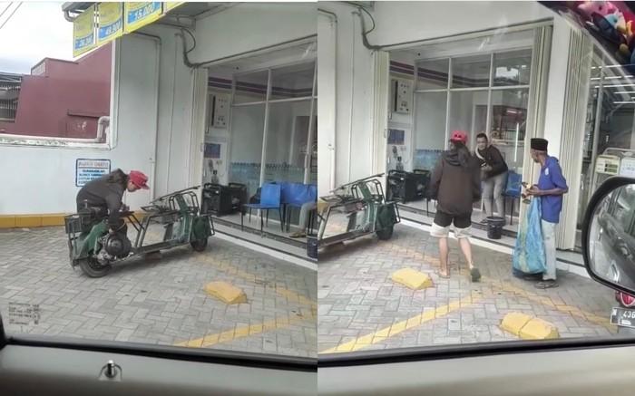Mulia! Anak Motor Ini Beri Makan Pemulung di Pinggir Jalan