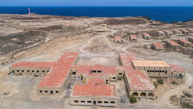 Sanatorio de Abona Abades Tenerife Aerial Drone View Canary Islands Canaries Spain