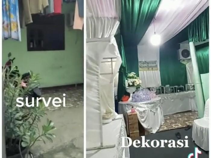 Viral di Bekasi, dekorasi pernikahan di gang sempit