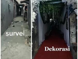 Pernikahan di Gang Sempit dengan Dekorasi Heboh Viral, Ini Cerita di Baliknya