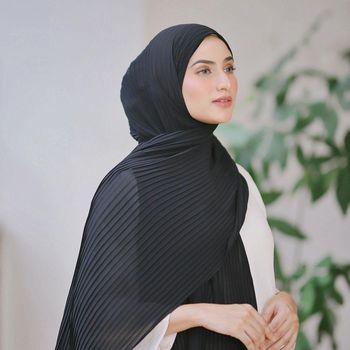 Tren hijab pleats.