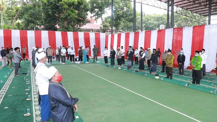 Doa bersama forkopimda dan tokoh NU-NW di Mapolda NTB