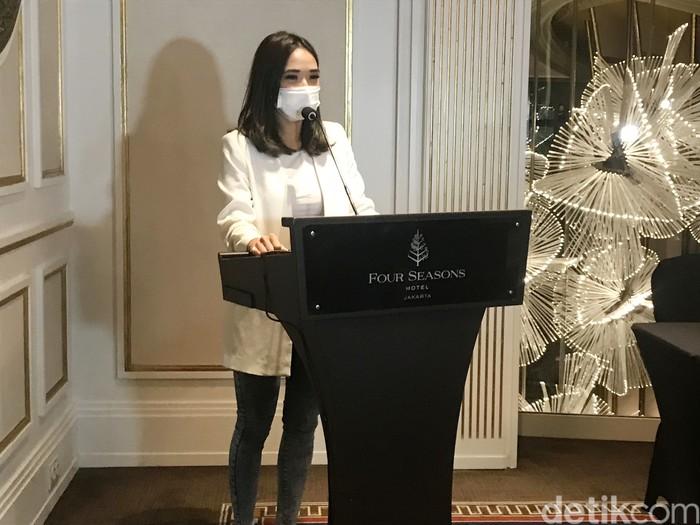 Gisella Anastasia saat ditemui di hotel Four Seasons.