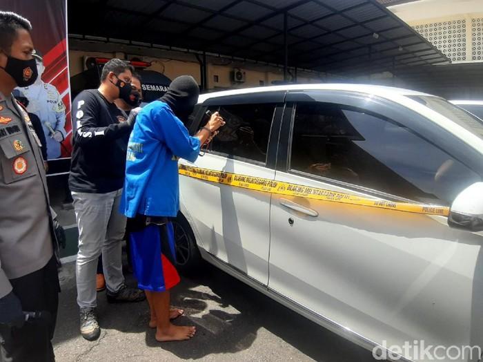 Jumpa pers kasus pecah kaca mobil di Mapolres Semarang, Rabu (6/1/2021).