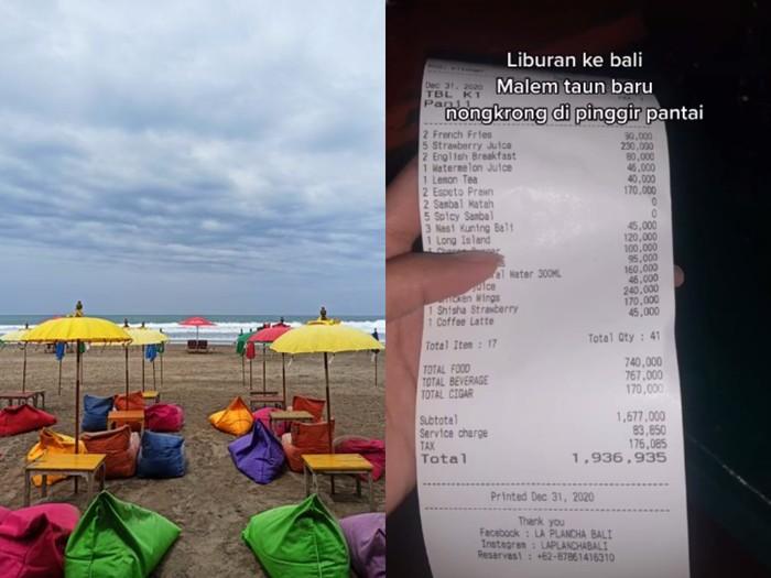 Syok Bayar Rp 2 Juta Nongkrong di Bali, Pria Ini Dinyinyiri Netizen