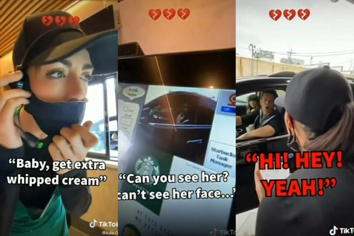Nyamar Jadi Barista Starbucks, Wanita Ini Labrak Pacarnya