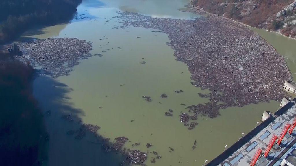 Pulau Sampah Muncul di Sungai Bosnia