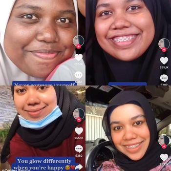 Wanita asal Malaysia, Nur Qistina Emylia yang berhasil glowup