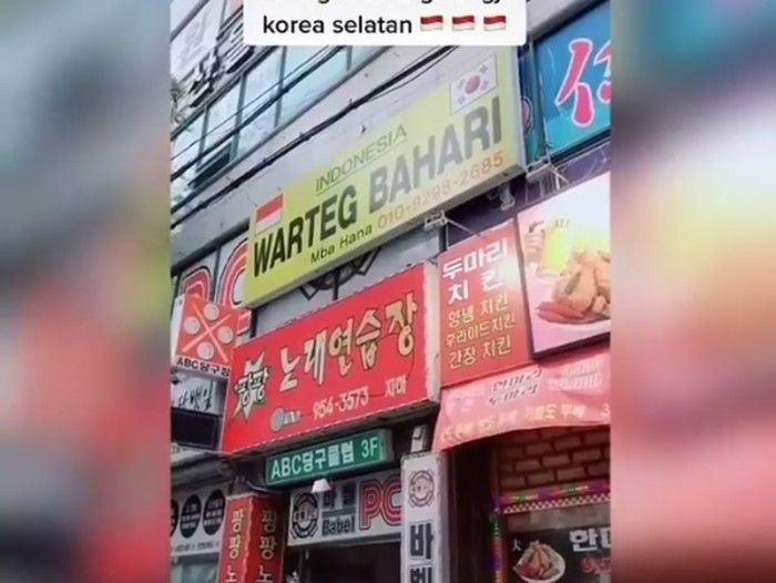 Warteg di Luar Negeri, Korea hingga Arab