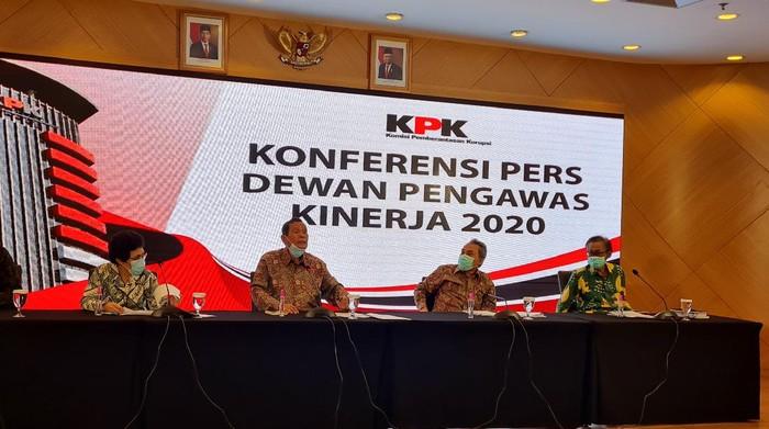 Dewas KPK saat jumpa pers (Foto: Farih/detikcom)
