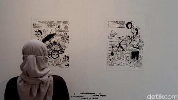 Masing-masing seniman memiliki refleksi berbeda karena mereka berkesempatan berbincang dengan Erlina. Ada yang bercerita tentang biografi Erlina, pendirian Toko Buku Maranatha, hingga kisah-kisah pewayangan yang ditampilkan dalam ilustrasi seni lukis.