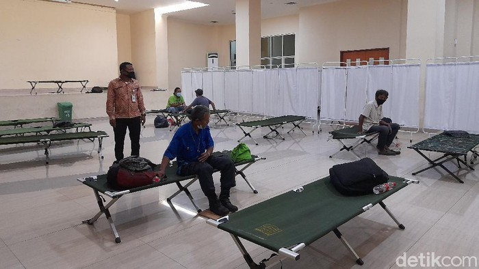 Kondisi GOR Kecamatan Tanah Abang (Tiara Aliya Azzahra/detikcom).