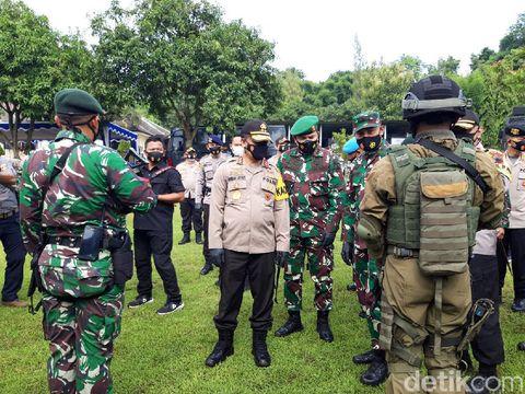 Latihan gabungan Polda Jateng dan Kodam IV/Diponegoro di Boyolali, Kamis (7/1/2021).