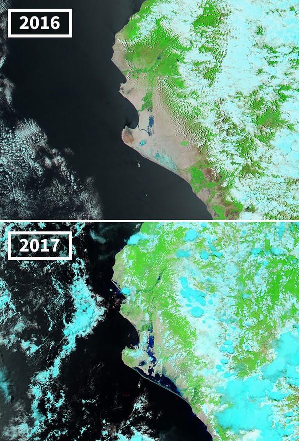 Curah hujan yang semakin meningkat di Peru.