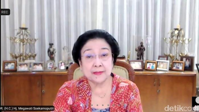 Screenshot Ketum PDIP Megawati Soekarnoputri melalui aplikasi Zoom  (Dok. Istimewa).