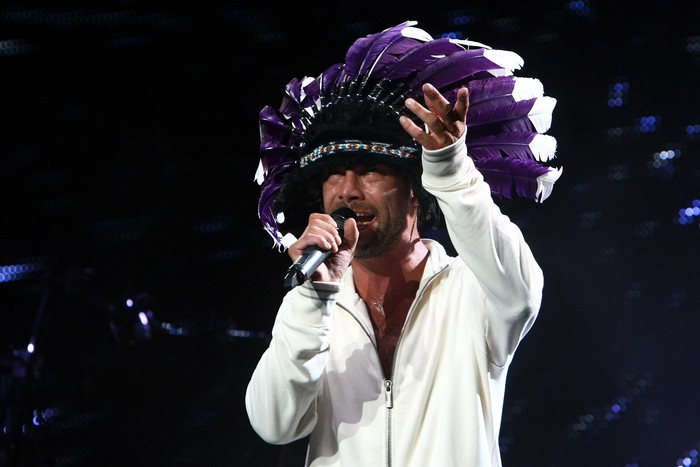 MONZA, ITALY - SEPTEMBER 09:  Jamiroquai performs at F1 Rocks in Monza on September 9, 2011 in Monza, Italy.  (Photo by Andrew Hone/Getty Images for F1 Rocks in Monza)