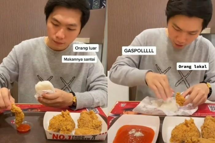 Perbedaan Orang Makan di KFC