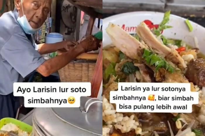 Kakek 93 Tahun Masih Semangat Jualan Soto Ayam di Yogyakarta