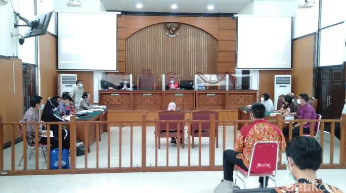 Lanjutan sidang praperadilan Habib Rizieq, Jumat (8/1/2020). (Ibnu Hariyanto/detikcom).