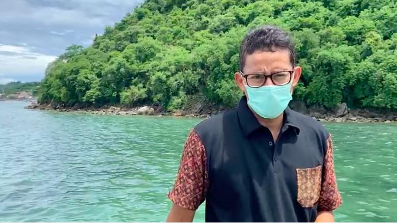 Inspeksi persiapan destinasi super prioritas (DSP, Menteri Pariwisata dan Ekonomi Kreatif (Menparekraf) Republik Indonesia, Sandiaga Salahuddin Uno mengunjungi Labuan Bajo, Nusa Tenggara Timur (NTT) pada Kamis (7/1/2021).