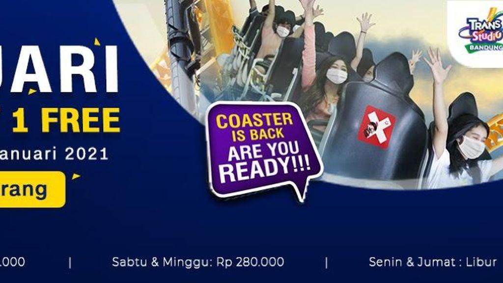 Jangan Lewatkan Promo Buy 1 Get 1 Tiket Trans Studio Bandung!