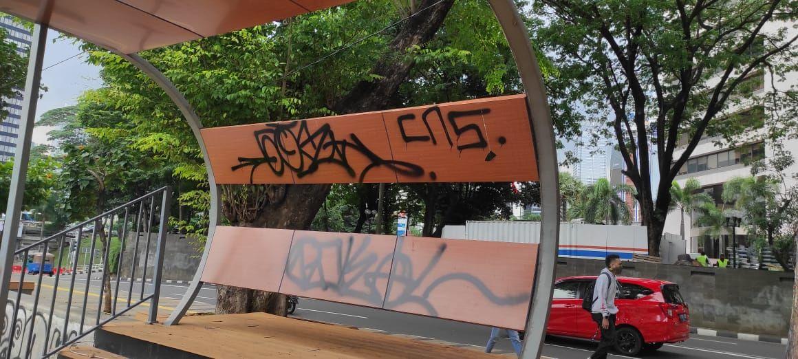 Trotoar KBB Jl RM Margono Djojohadikoesoemo, Menteng, Jakpus. (Syahidah Izzata/detikcom)