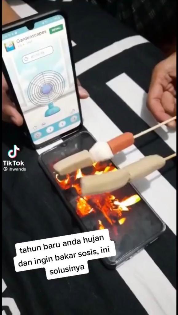 Bakar Sate Pakai Api Virtual dan Kipas Angin Online, Netizen Ini Bikin Ngakak!