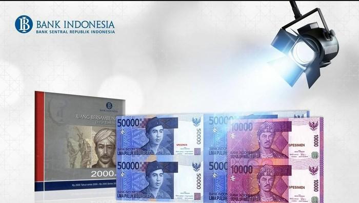 Foto uang bersambung yang dirilis Bank Indonesia