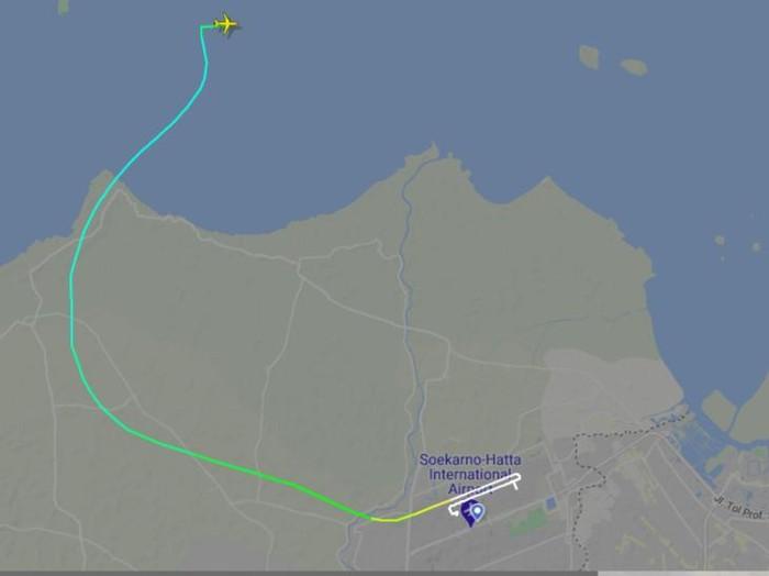 Jejak FlightRadar Sriwijaya Air SJ182 Jakarta Pontianak (Screenshot FlightRadar)