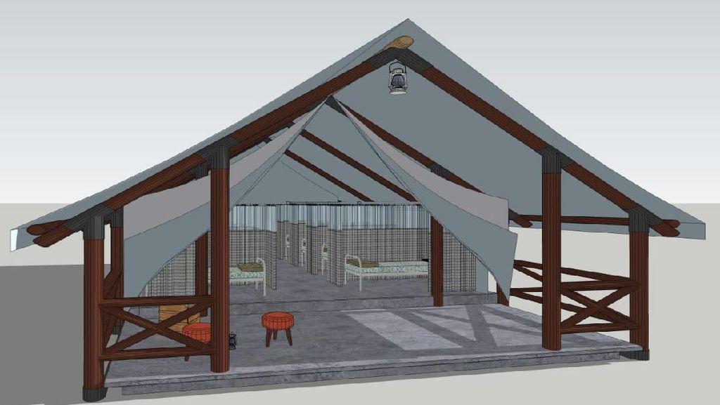 Rumah Lawan COVID-19 Tangsel Akan Bangun Tenda Berkonsep Glamping, Apa Itu?