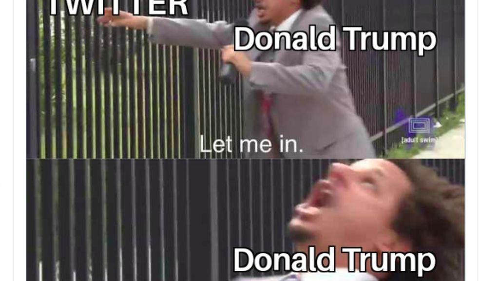 Deretan Meme Kocak Trump Dicekal Twitter