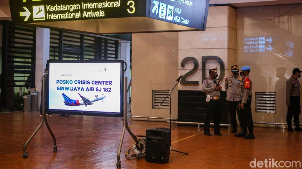 AP II Siapkan Crisis Center Sriwijaya Air SJ182 di Soetta dan Supadio