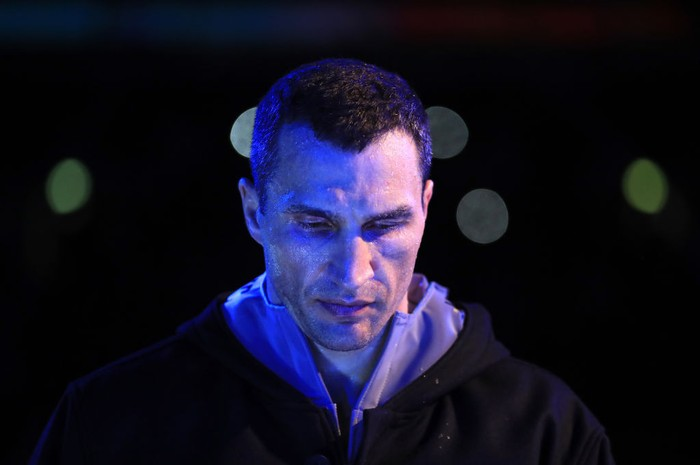 LONDON, ENGLAND - APRIL 29:  Wladimir Klitschko makes his way to the ring prior to his fight against Anthony Joshua for the IBF, WBA and IBO Heavyweight World Title bout at Wembley Stadium on April 29, 2017 in London, England.  (Photo by Richard Heathcote/Getty Images)