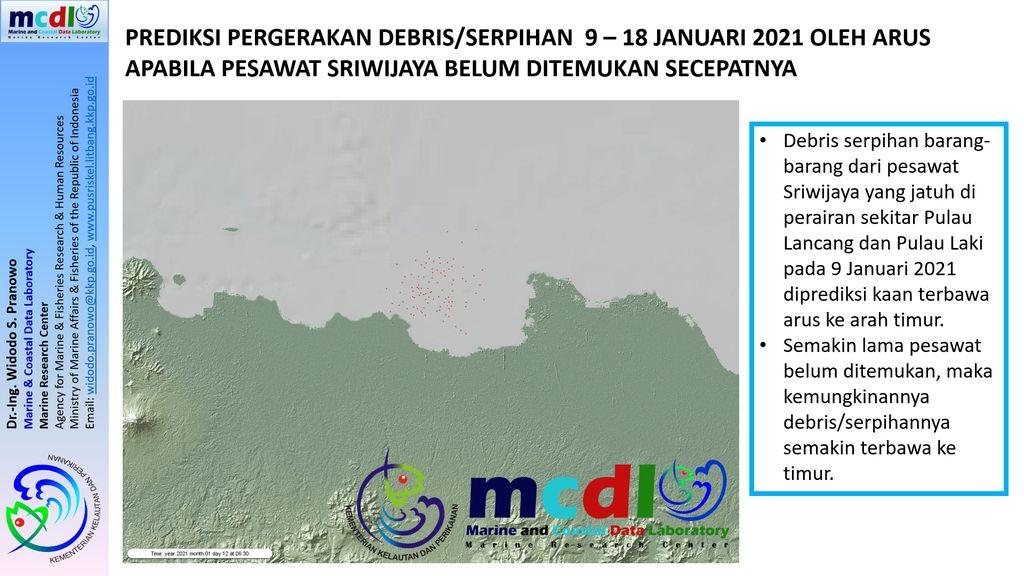 Arus laut di lokasi jatuhnya pesawat Sriwijaya Air