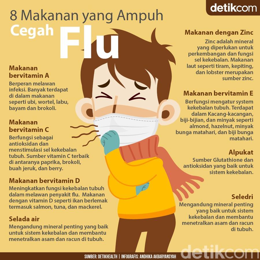 Makanan Penangkal Flu, Cocok Disantap Saat Cuaca Tak Menentu