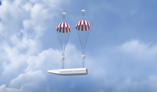 parasut pesawat