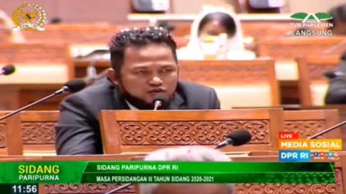 Anggota Komisi VIII DPR RI Rudy Masud (Screenshot: YouTube DPR RI).