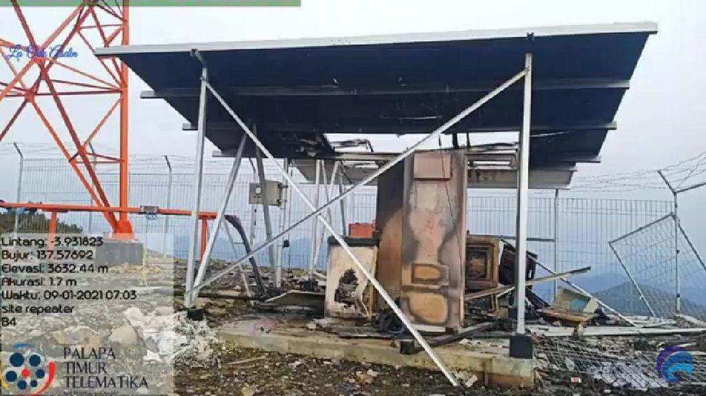 2 BTS Palapa Ring di Puncak Papua Dibakar OTK, Kominfo Investigasi