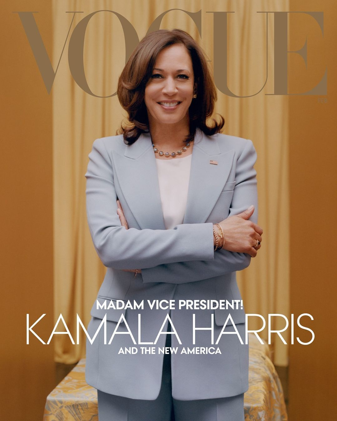Kamala Harris di Majalah Vogue Feb 2021