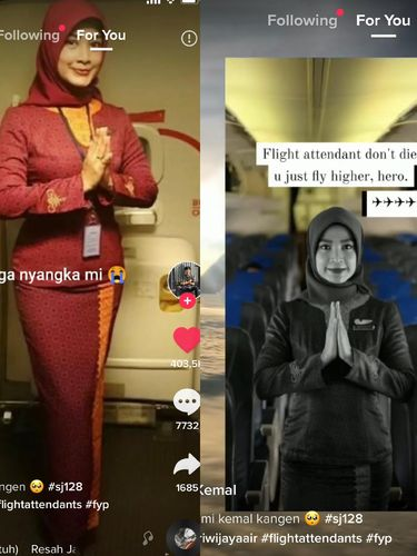 Gita Lestari pramugari Sriwijaya Air SJ182