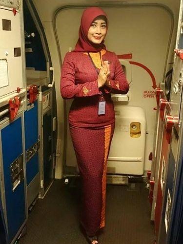 Gita Lestari, pramugari berhijab Sriwijaya Air SJ182