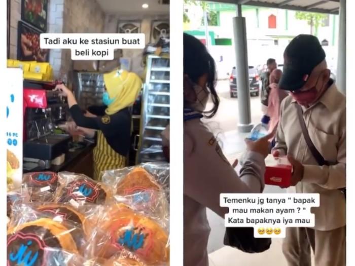 Aksi Wanita Traktir Makan Kakek Kelaparan Ini Bikin Netizen Nangis Haru